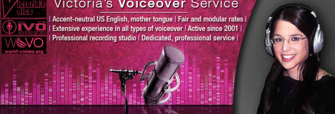 Victoria's Voice in Israel — Voiceover Talent